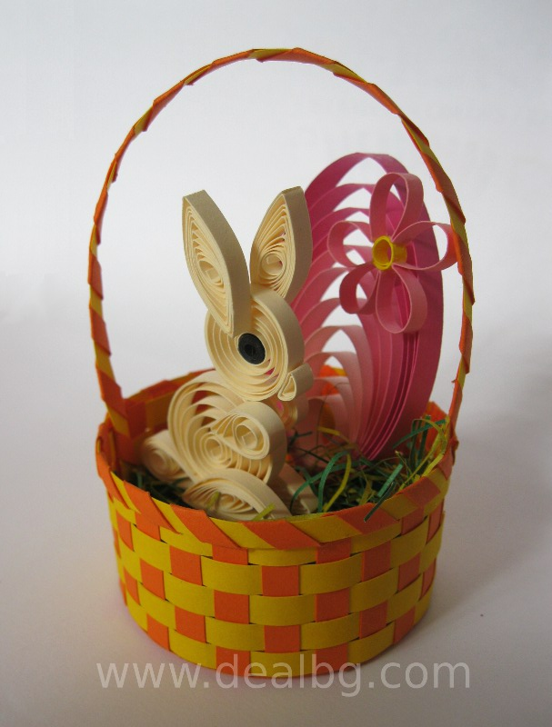 3D Quilling Easter Bunny